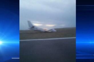 Panica printre calatori. Roata unui avion Saab 340, cu destinatia Glasgow, s-a rupt in momentul decolarii din cauza vantului