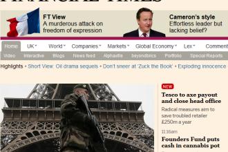 Financial Times a modificat un articol online in care critica publicatia franceza Charlie Hebdo