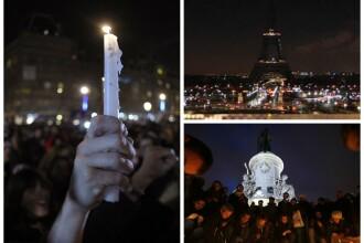 Mii de oameni au iesit din nou in strada, in Franta. Turnul Eiffel si-a stins luminile in semn de doliu. GALERIE FOTO