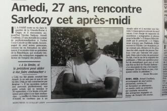 In 2009, unul din atacatorii din Paris s-a intalnit cu presedintele Frantei, Nicolas Sarkozy.