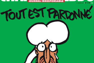 Prima pagina Charlie Hebdo dupa atentatul soldat cu 12 morti. Cum apare profetul Mahomed in noua caricatura