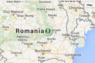 Cutremur de 3,2 grade in Vrancea. Epicentrul seismului a fost localizat in Buzau
