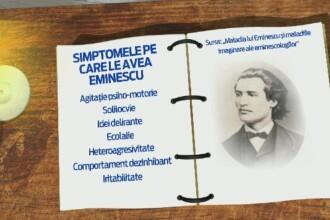 Mihai Eminescu NU a avut sifilis. Informatiile aparute joi, la 165 de ani de la nasterea poetului
