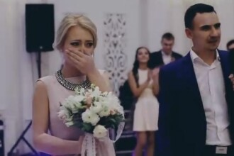 Nunta pe care o tanara din Chisinau nu o va uita niciodata. Ce s-a intamplat imediat dupa ce a prins buchetul miresei. VIDEO