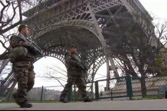 Atentatele din Franta ii descurajeaza pe turisti sa viziteze Parisul. Peste 100.000 de soldati pazesc punctele-cheie din oras