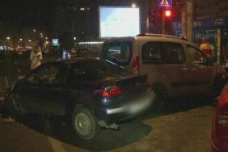Un sofer cu o alcoolemie de 1.8 la mie a provocat un accident in lant in Capitala. Explicatia tanarului de 26 de ani