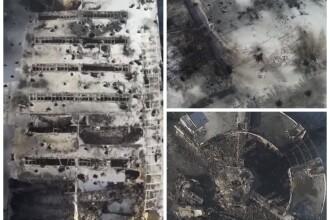 Ruinele aeroportului din Donetk, filmate cu o drona. Dupa un an de lupte, zona e devastata complet. VIDEO
