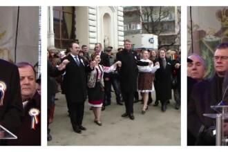 Ziua Unirii Principatelor: Klaus Iohannis si Victor Ponta au dansat in Hora Unirii la Iasi. Ce mesaje au transmis