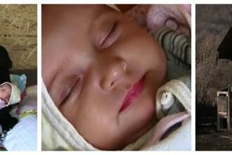Familia a alungat-o pentru ca nu a vrut sa-si abandoneze fetita in spital. Mama si copila traiesc acum in conditii cumplite