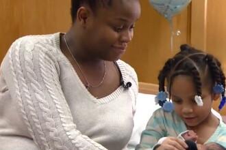 SUA: O fetita de 4 ani si-a salvat mama gravida si epileptica sunand la 911