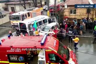 Accident grav petrecut la Constanta. 21 de persoane au fost ranite dupa ce un microbuz a fost lovit de un autoturism