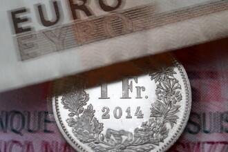 Francul elvetian a coborat la 4,4269 lei, in timp ce euro a scazut la 4,4709 lei