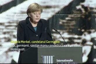 Merkel, in cadrul unei ceremonii de comemorare a victimelor de la Auschwitz: Noi, germanii, simtim o mare povara a rusinii