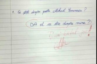Testul notat cu 2, dar devenit viral pe internet. Cum raspunde un elev la intrebarea: Ce stiti despre M. Eminescu