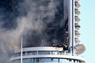 Primele imagini cu infernul din Dubai. Cum arata acum hotelul de lux mistuit de flacari in noaptea de Revelion