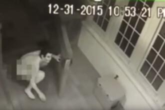 Ce a vazut un cuplu pe veranda lor in seara de Revelion. Imaginile au fost surprinse de o camera de supraveghere: VIDEO