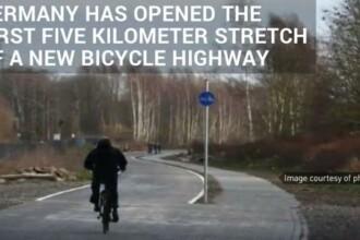 VIDEO Germania va avea o autostrada de 100 km pentru biciclete / Primii 5 km au fost inaugurati la sfarsitul anului trecut