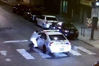 Un barbat mascat a incercat sa execute un politist american, in plina strada. Suspectul a jurat credinta Statului Islamic