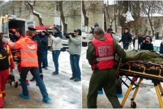 Trei persoane cu arsuri grave, in urma unui incendiu produs in Chisinau, transportate la Bucuresti cu o aeronava Spartan