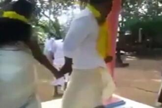 Gafa la nunta unor indieni. Momentul in care un mire ramane gol in fata invitatilor, din cauza sotiei sale. VIDEO