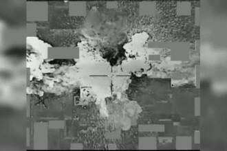 Lovitura financiara data de trupele SUA Statului Islamic. Momentul in care un depozit cu bani al teroristilor este bombardat