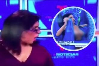 Gafa unei concurente de la Big Brother, in timp ce se afla in direct, la TV. Imaginile cu ea au facut inconjurul tabloidelor