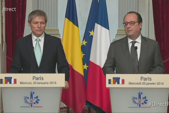 Presedintele Hollande va veni in Romania, in septembrie. Anuntul facut de Dacian Ciolos, dupa intalnirea cu premierul francez