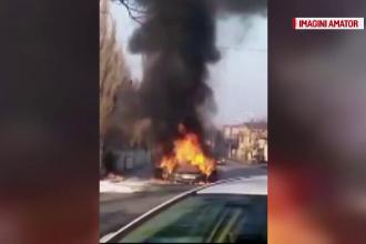 Doua explozii dupa ce o masina a luat foc intr-o parcare din Constanta. Incendiul, cauzat de un scurtcircuit