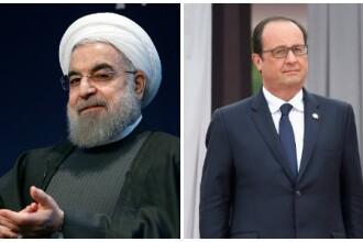 Francezii au refuzat sa scoata vinul din meniu. Cina oficiala dintre Francois Hollande si Hassan Rouhani, anulata