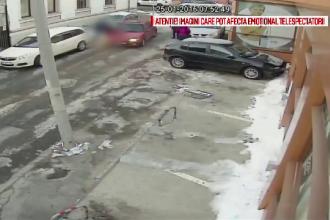 Tanarul din Pitesti care a lovit un barbat cu masina, dupa o cearta, a fost retinut. Ce au aratat imaginile de pe camere