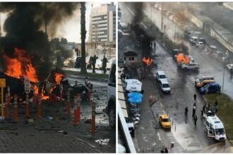 Explozie in Izmir. Oficialii turci anunta ca autorii planuiau un atentat de proportii. Al treilea atacator, cautat de politie