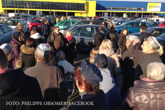 Alerta falsa cu bomba la magazinul IKEA de langa Bruxelles. Cladirea a fost evacuata in 5 minute. VIDEO