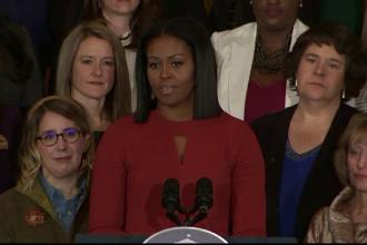 """Michelle Obama: Orice femeie care nu a ales-o pe democrata Hillary Clinton a votat împotriva """"propriei voci"""""""