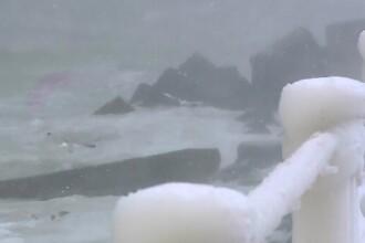 Sloiuri imense de gheata au pus stapanire pe Dunare. Spargatorul Perseus, pus la treaba dupa 4 ani de pauza