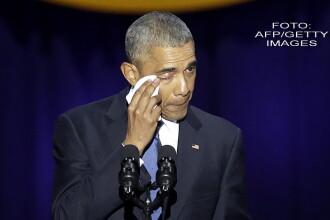 Barack Obama si-a luat adio in lacrimi de la americani in ultimul sau discurs in calitate de presedinte SUA