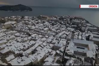 Iarna face probleme in Europa. Peisaje stranii in statiunile estivale din Grecia, Croatia sau Bulgaria, acoperite de zapada