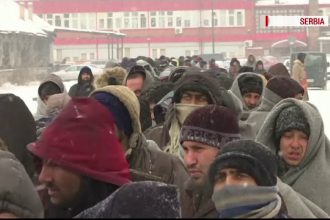 2.000 de migranti sunt blocati in Serbia, fara adapost, in toiul iernii.