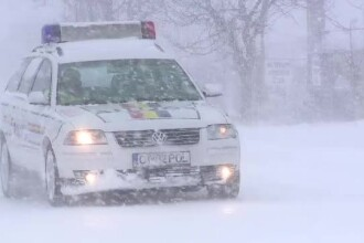 S-a intors vremea rea. Informare meteo de vant si ninsori in toata tara, iar DN 4 a fost inchis de politie