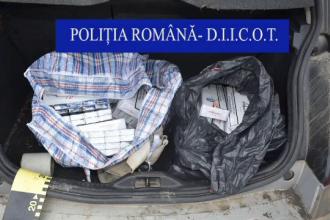 Barbati din R. Moldova, prinsi in timp ce faceau contrabanda cu tigari in Iasi si Vrancea. Ce au gasit procurorii asupra lor