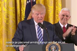 Trump sustine ca are nevoie de doua mandate pentru a