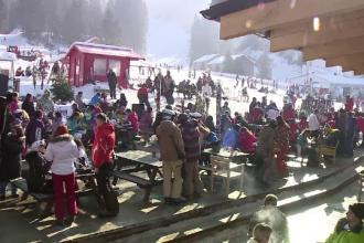 Odata cu Mica Unire, turistii au profitat de zilele libere si au plecat la munte.