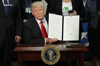 Donald Trump a semnat ordinul de construire a zidului promis in campanie.