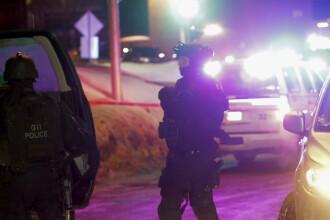 Atac armat intr-o moschee din Quebec: 6 oameni au murit. Unul din cei doi atacatori a sunat la politie si s-a predat