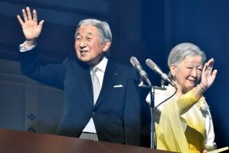 Împăratul Akihito, apariție rară în public, cu prilejul intrării în noul an
