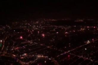 Focurile de artificii din Amsterdam, filmate de poliția olandeză din elicopter