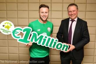Un fotbalist a câștigat 1 milion de euro la loteria de Revelion