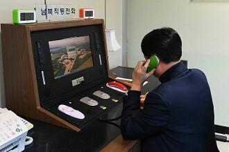 """Trei apeluri între Phenian și Seul, la nici 24 de ore de la redeschiderea """"liniei roșii"""""""