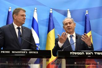 Iohannis a discutat cu premierul Israelului despre o eventuală mutare a ambasadei României în Ierusalim