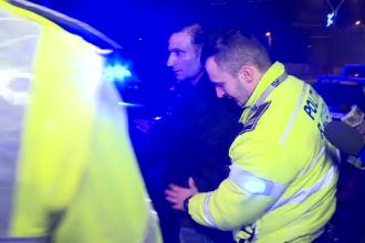Razie a poliției pe străzile din capitală. Reacția unui șofer când i-a văzut pe agenți