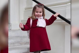 Prinţesa Charlotte a început grădinița. Fotografiile făcute de mama ei, în prima zi